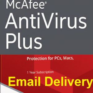 McAfee Anti-Virus Plus 2021 for 1 PC 1 Year