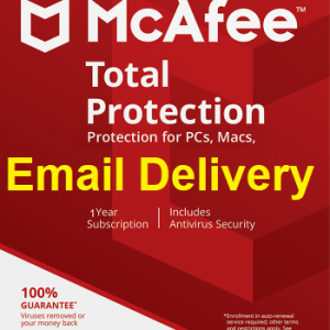McAfee Total Protection 2021 for 1PC User, 1 Year