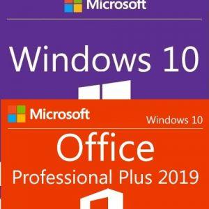 Windows 10 Pro + Office 2019 Professional Plus Key (Lifetime)